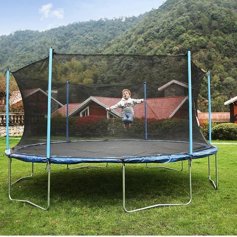 AirBound 14-inch Round Trampoline with Safety Enclosure