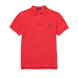 Polo Ralph Lauren Big and Tall Cotton Polo Shirt Bright Red XLT Tall