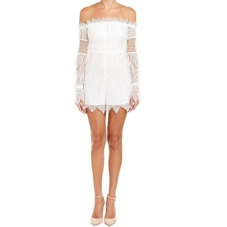 Kendall + Kylie NEW White Womens Size Large L Lace Off-Shoulder Romper
