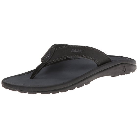 Olukai Ohana Sandal - Men's Black/Dark Shadow 8