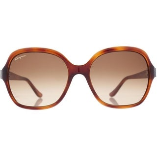 Salvatore Ferragamo Womens Gradient Oversized Square Sunglasses - o/s