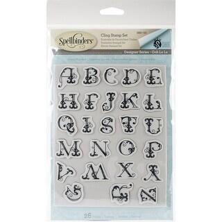 Spellbinder Ooh La La Cling Stamp Set By Stacey Caron-French Alphabet