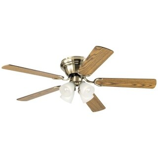 Westinghouse 7216300 Contempra IV 4 Light 5 Blade Hugger Ceiling Fan with Reversible Motor, Reversible Blades and Light Kit