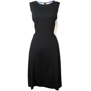 Vince Camuto Women's Sleeveless Color Block Pleated Dress - 12