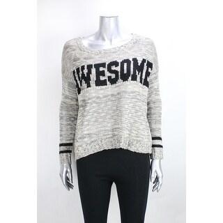 Heart N Crush Khaki Black Marled Printed Sweater S