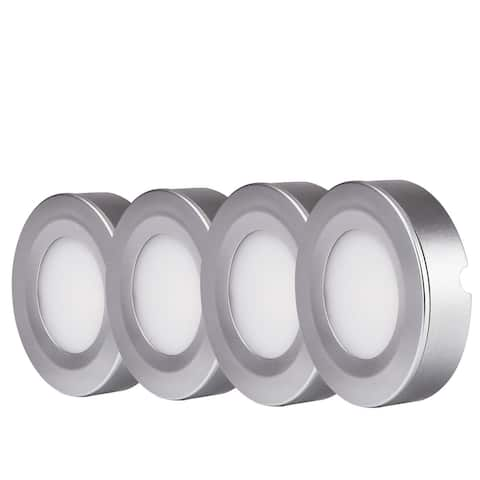 LED Under Cabinet Lighting Kit, 4pcs 2W LED Puck Lights, 3000K