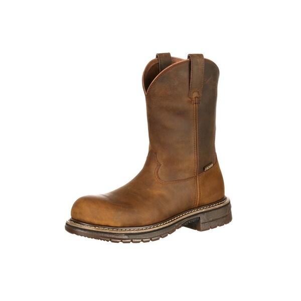 Rocky Western Boots Mens Original Ride Composite Roper Brown