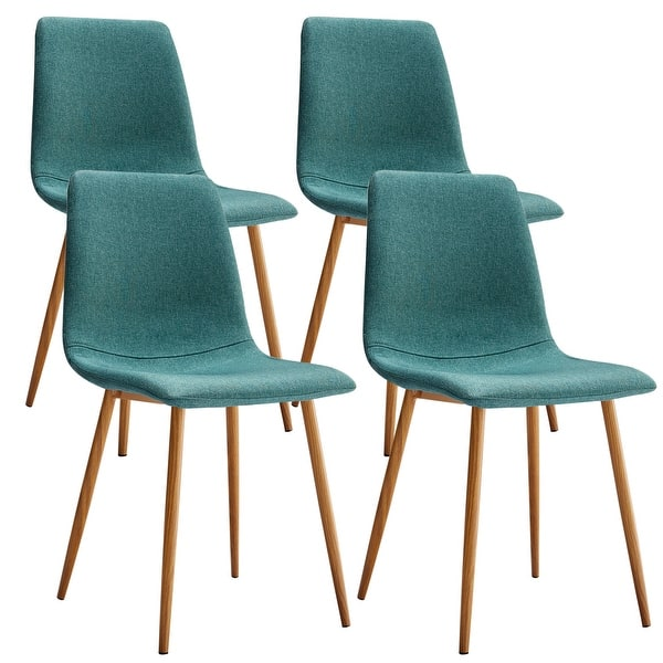 Shop VECELO Kitchen Dining Chairs Sets Fabric Cushion Seat ...