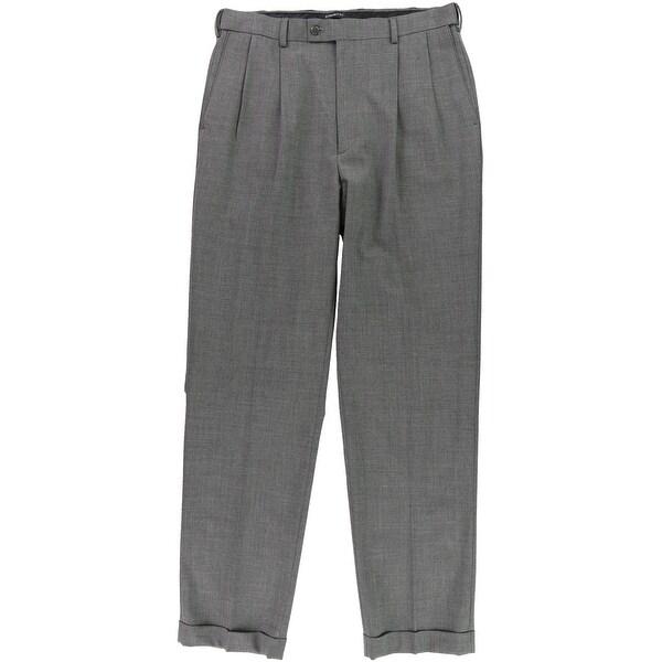 Louis Raphael Mens Straight Dress Pants Slacks, Grey, 34W x 34L - 34W x 34L. Opens flyout.