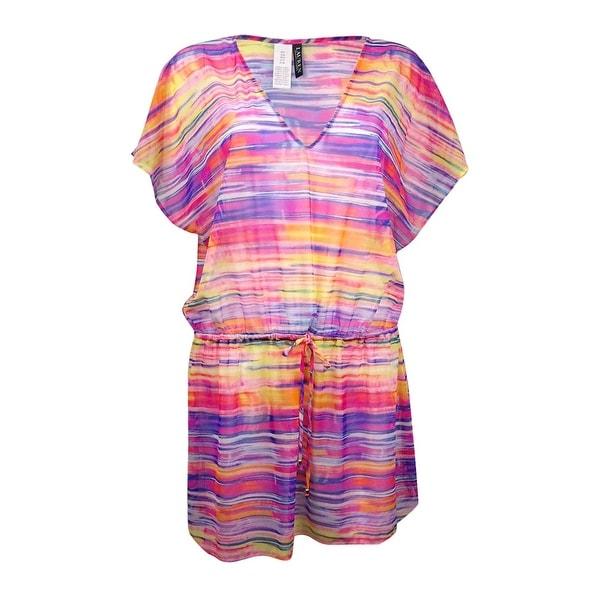 Lauren Ralph Lauren Women's V-Neck Space-Dye Mesh Swim Cover
