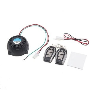 9-16V 315MHz Remote Control Anti-theft Alarm Security System Set for Motorcycle