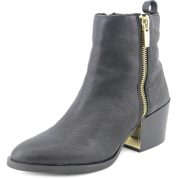 Vince Camuto Imala Women Pointed Toe Leather Black Ankle Boot