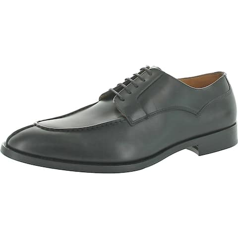 Vince Camuto Mens Hartell Derby Shoes Leather Lace Up - Black - 11.5 Medium (D)