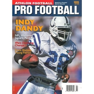 Nice Shop Marshall Faulk unsigned Indianapolis Colts Athlon Sports 1995