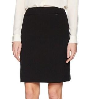 Tahari by ASL Black Womens Size 14P Petite Straight Pencil Skirt
