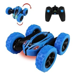 2.4GHz 4WD RC Double Sided Car Rotating Tumbling Crawler Blue