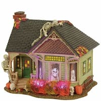 Department 56 Halvl the Skeleton House Lit