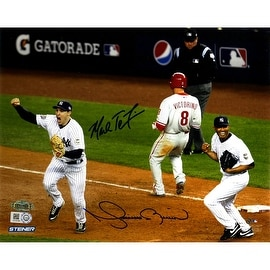 Mark Teixeira & Mariano Rivera Dual Signed 2009 World Series Final Out 8x10 Photo ()