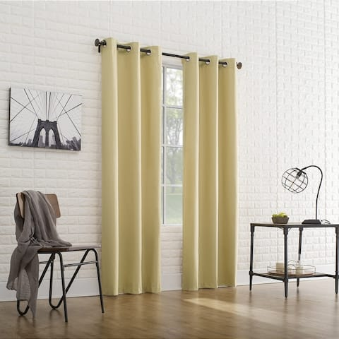 Sun Zero Cooper Thermal Insulated Room Darkening Grommet Curtain Panel