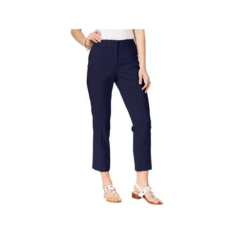 Tommy Hilfiger Womens Plus Bristol Ankle Pants Slim Leg Mid-Rise