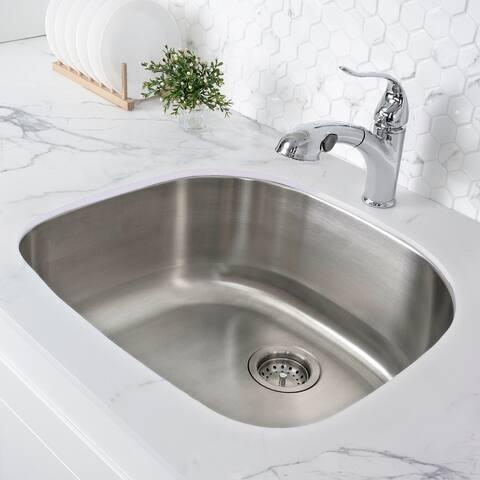 "Toulouse 23 5/8 x 21 Stainless Steel, Single Basin, Undermount Kitchen Sink - 23"" x 21"""