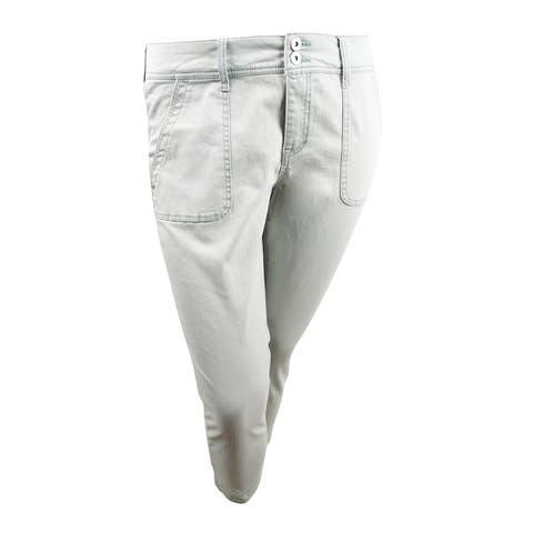 Style & Co. Women's Plus Size Raw-Hem Skinny Pants