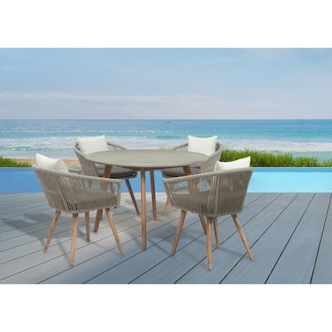 GreyPoint Furnishings - Herman 5 Piece Dining Set with Cushions