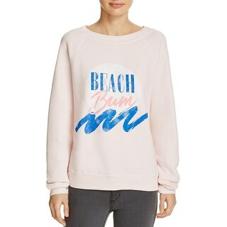 Wildfox Couture Womens Sweatshirt Printed Scoop Neck - s