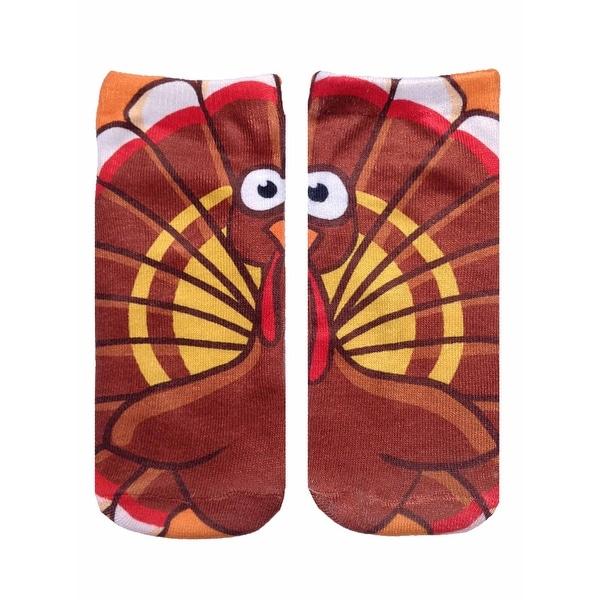 Unisex Turkey Ankle Socks - Brown