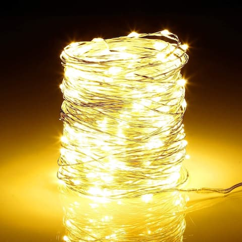 98ft 300LEDs Dimmable Copper String Lights, Waterproof Warm White - 6W