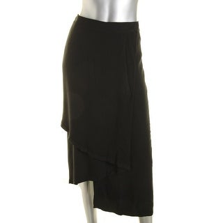 Pure DKNY Womens Asymmetric Midi Wrap Skirt