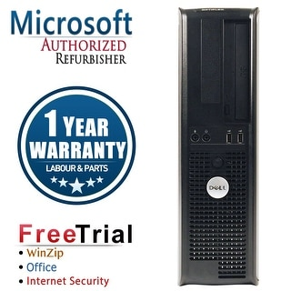 Refurbished Dell OptiPlex 380 Desktop DC E5800 3.2G 4G DDR3 160G DVD Win 10 Home 1 Year Warranty - Silver