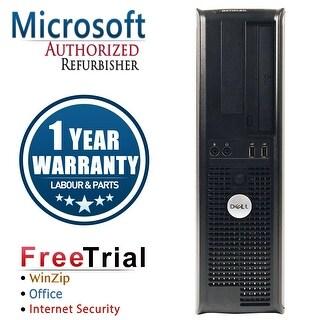 Refurbished Dell OptiPlex 380 Desktop Intel Core 2 Quad Q6600 2.4G 8G DDR3 320G DVD Win 10 Home 1 Year Warranty - Silver