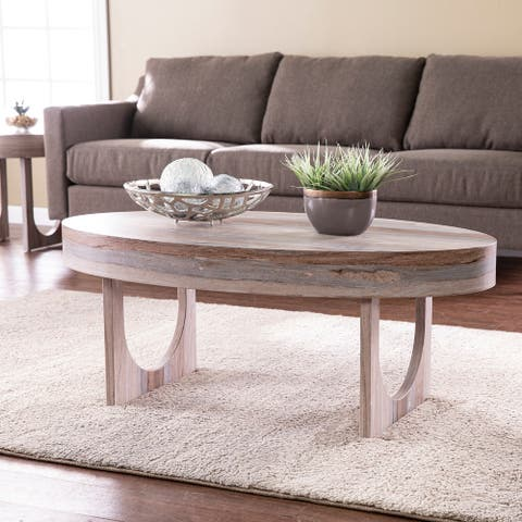 Strick & Bolton Chadwick Contemporary Brown Faux Stone Sofa Cocktail Table