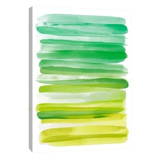 """PTM Images 9-109085  PTM Canvas Collection 10"""" x 8"""" - """"Watercolor Stripes D"""" Giclee Abstract Art Print on Canvas"""