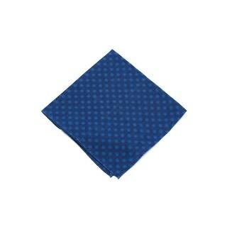 Brunello Cucinelli Men's Two Tone Blue Linen Blend Pocket Square