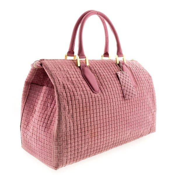 HS2021 RA TALIA Rosa Leather Satchel/Top Handle Bag