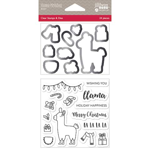 Jillibean Soup Shaker Clear Stamps & Die Set-Llama Holiday