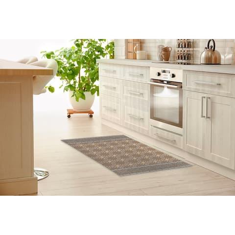 ZINA BROWN Kitchen Mat By Kavka Designs