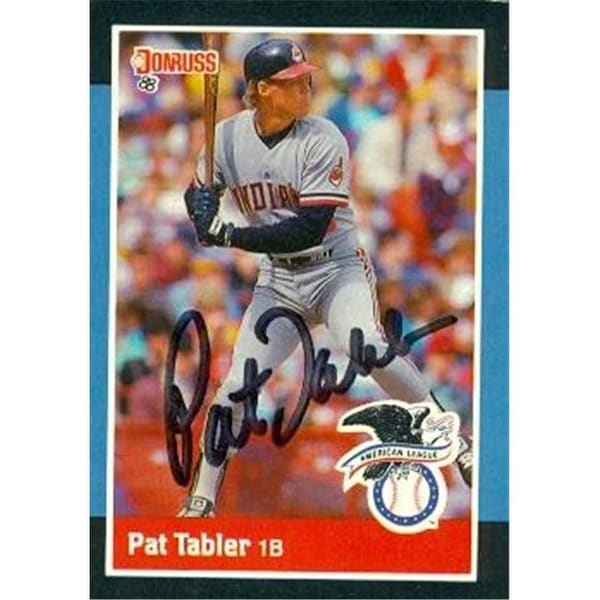 Shop Pat Tabler Autographed Baseball Card Cleveland Indians 1988 Donrus - Free  Shipping On Orders Over  45 - - 24008394 240d312847fa
