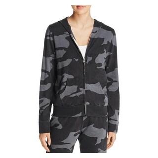 Monrow Womens Hoodie Camouflage Zipper