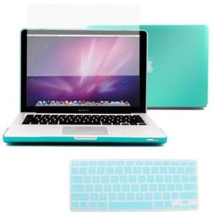 """AGPtek 3in1 Rubberized Hard Case Laptop Shell +Keyboard Skin + Screen Protector for Macbook Pro 13 13.3"""" Retina A1425"""
