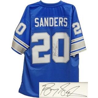 Barry Sanders signed Detroit Lions Blue NFL Pro Line Vintage Premier TB Jersey