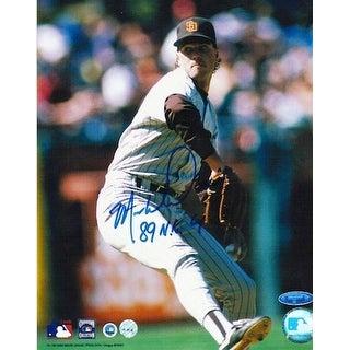 "Autographed Mark Davis San Diego Padres 8x10 Photo Inscribed ""89 NL CY"""
