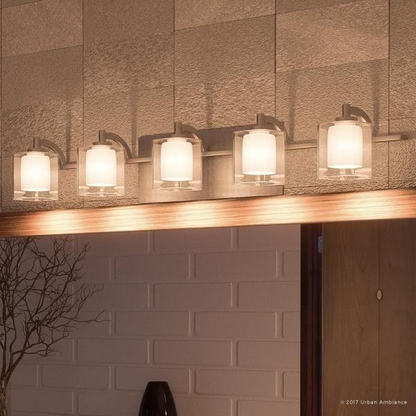 "Shop Luxury Modern Bathroom Vanity Light, 6""H X 42""W, With Posh Style, Brushed Nickel Finish"