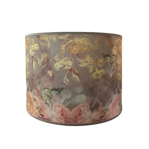 Royal Designs Handmade Butterfly Garden Hardback Lamp Shade HBC-8073