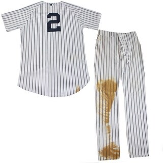 Derek Jeter Set Game Used Pinstripe Jersey and Pants 14 Single 3339th hit 2624th career game