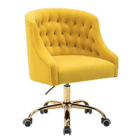 Lydia Button-tufted Velvet Task Chair
