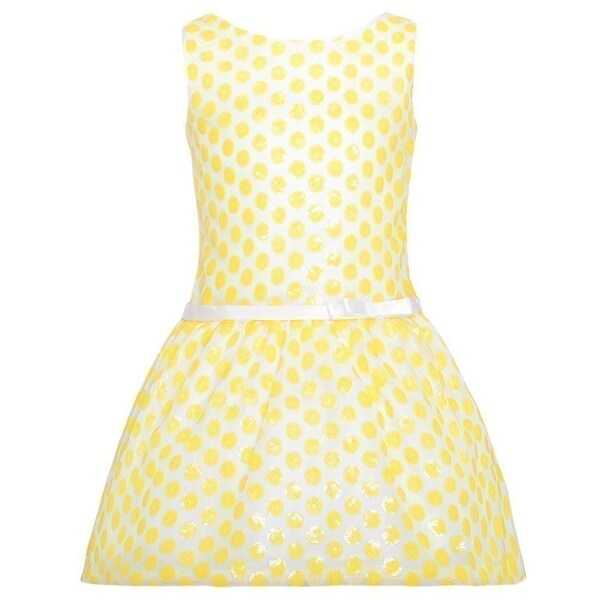 fb09acd8dd98 Shop Sweet Kids White Yellow Flower Bow Easter Dress Girls 4-12 - Free  Shipping On Orders Over $45 - Overstock - 18167354
