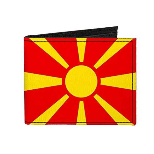 Buckle-Down Canvas Bi-fold Wallet - Macedonia Flag Accessory